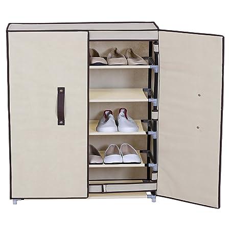 Cod. RE4977 rebecca mobili Armario Zapatos 7 Niveles Tela con Cremalleros Mueble Almacenamiento organizador Dormitorio