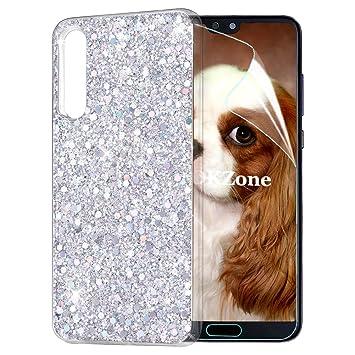 OKZone Funda Huawei P20 Pro Carcasa Purpurina, Cárcasa Lujosa Brilla Glitter Brillante TPU Silicona Teléfono Smartphone Funda Móvil Case [Protección a ...