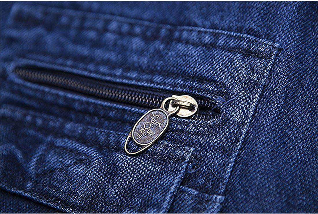 Amazon.com: yeokou hombre Casual Denim Azul Jean carga ...
