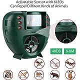 GH-191C Ahuyentador Ondas de sonido para animales Repelente para Gatos, pájaros, ratónes