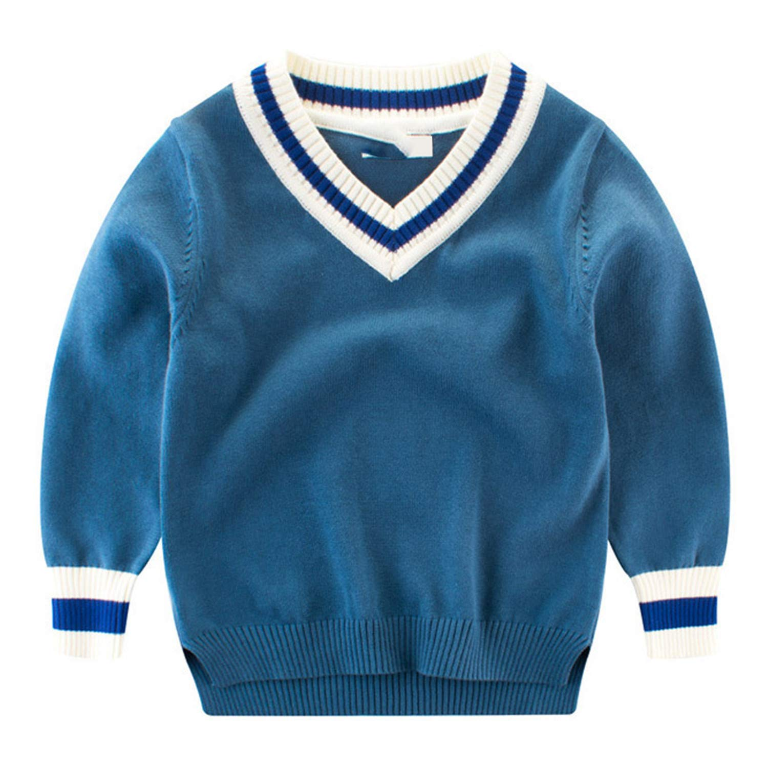 05dd0d64f Amazon.com  Huainsta Pullover V-Neck Knitted Sweater Kids Clothes ...