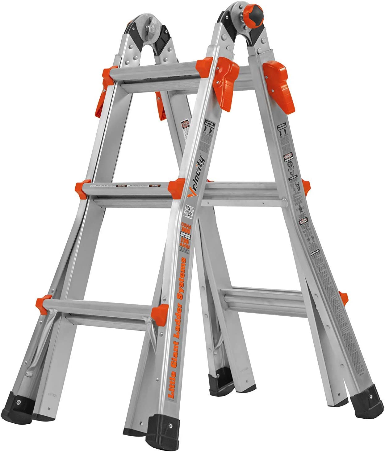 Little Giant 13-Foot Velocity Multi-Use Ladder, 300-Pound Duty Rating, 15413-001 (Renewed)