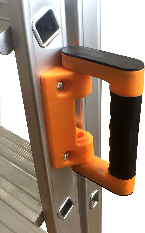 Qualit/é Professionnelle Porte outils ABS. /Échelle pliable K/•LUTECH Poign/ée de transport confort Fabriqu/é en Aluminium Marchepied 6 Marches Travail /à 3,2m Escabeau