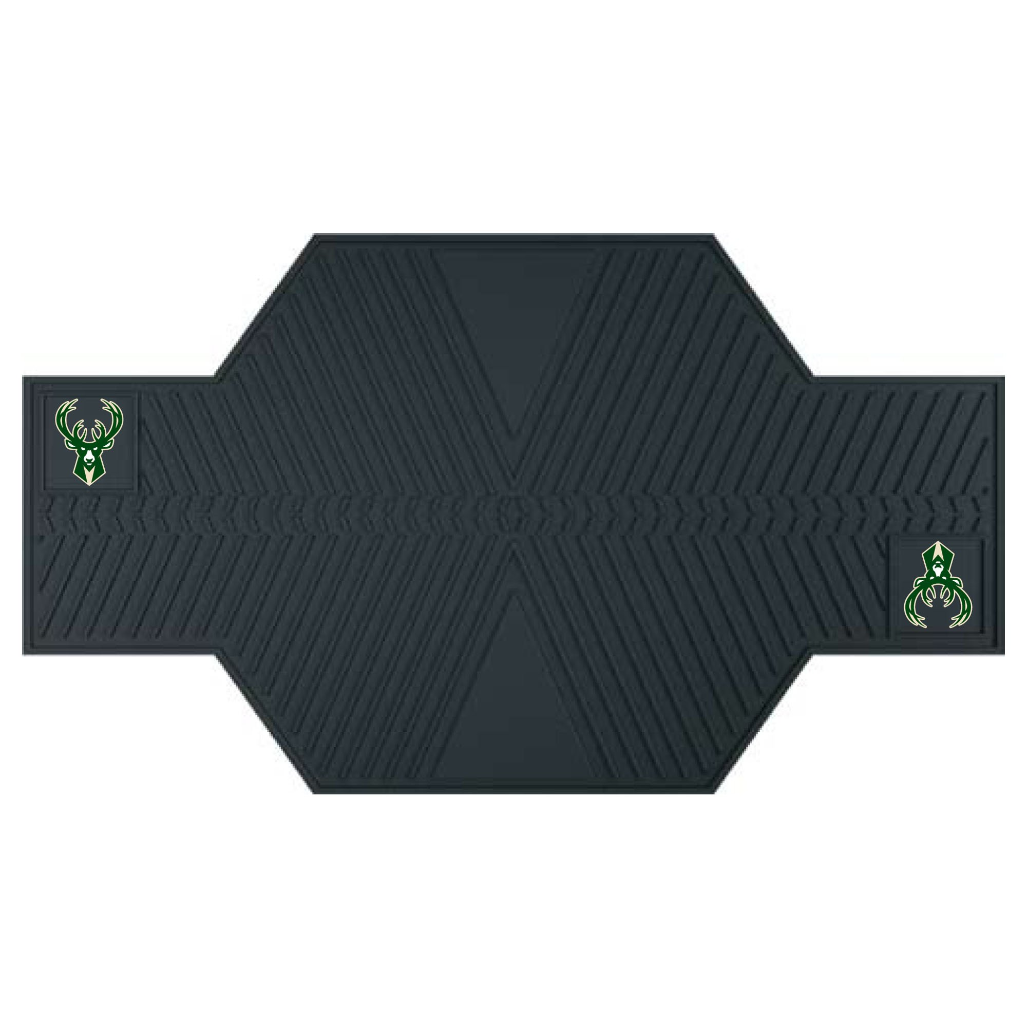 FANMATS 15384 NBA Milwaukee Bucks Motorcycle Mat