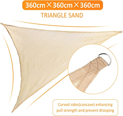 Slimerence 12'x12'x12' Triangle Sun Shade Sail