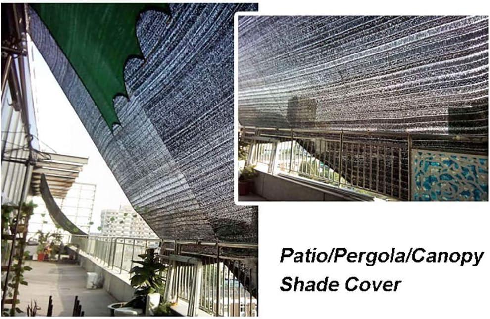 GUOOK Sombrilla Patio/PéRgola/Marquesina/JardíN 95% Tela ProteccióN Solar Negra, Malla Malla Sombra con Arandela (TamañO: 8m Y Veces; 20m): Amazon.es: Hogar