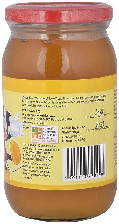 Tasty Treat Jam - Pineapple, 500g Bottle: Amazon in: Grocery