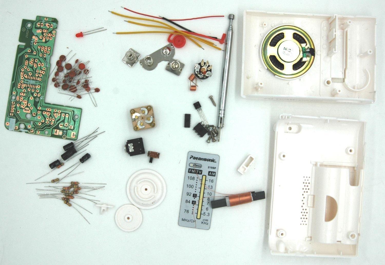 セラーテクノン TEKNON 自作 IC 2個 使用 高感度 AM FM ラジオ 製作 キット 小型の画像