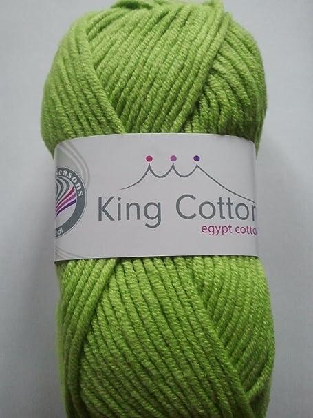 Grundl King Cotton - Madeja de algodón Egipcio y acrílico, Color Verde 11: Amazon.es: Hogar