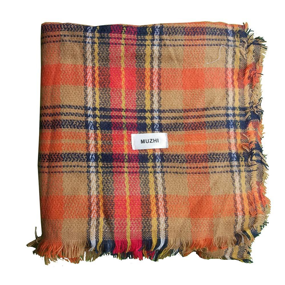 Classic Elegant Carpet Lattice Scarf MUZHI Womans Eternal Style Scarf