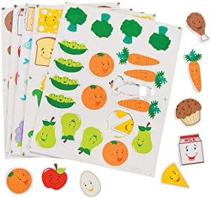 Food Group Foam Shapes - Crafts for Kids and Fun Home Activities