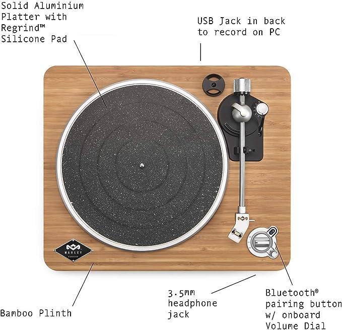 Bluetooth, 2 velocidades 33//45 RPM, tecnolog/ía Audio Technica AT - 3600L, 230 V Thomson TT450BTT Tocadiscos