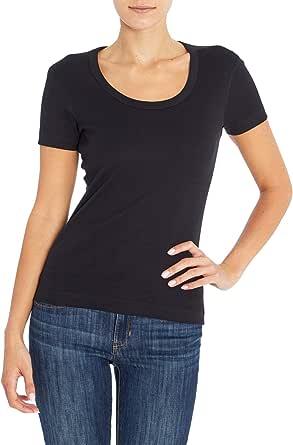 Three Dots Women's Short-Sleeve Scoop-Neck T-Shirt
