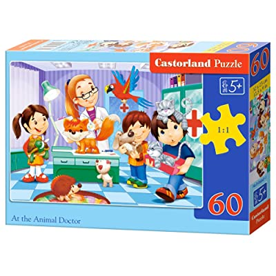 "Castorland ""at The Animal Doctor Puzzle (60 Piece): Toys & Games"