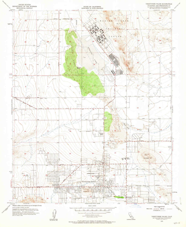 1000 Palms California Map.Amazon Com Yellowmaps Twentynine Palms Ca Topo Map 1 24000 Scale