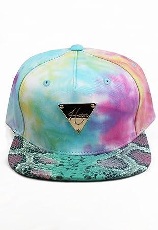 Hater Tie Dye Marble Snakeskin Snapback Hat - Gorra para niño ...