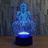 7 Color Changing Night Lamp 3D Atmosphere Bulbing Light 3D Visual Illusion LED Lamp for Kids Toy Christmas Birthday…