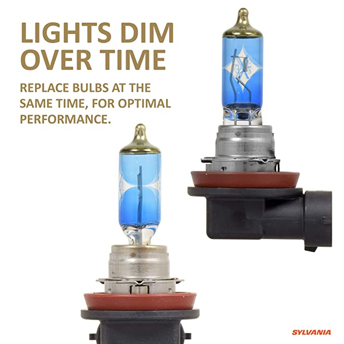 Amazon.com: SYLVANIA - H11 (64211) SilverStar zXe GOLD High Performance Halogen Headlight Bulb - Headlight & Fog Light, Bright White Light Output, ...