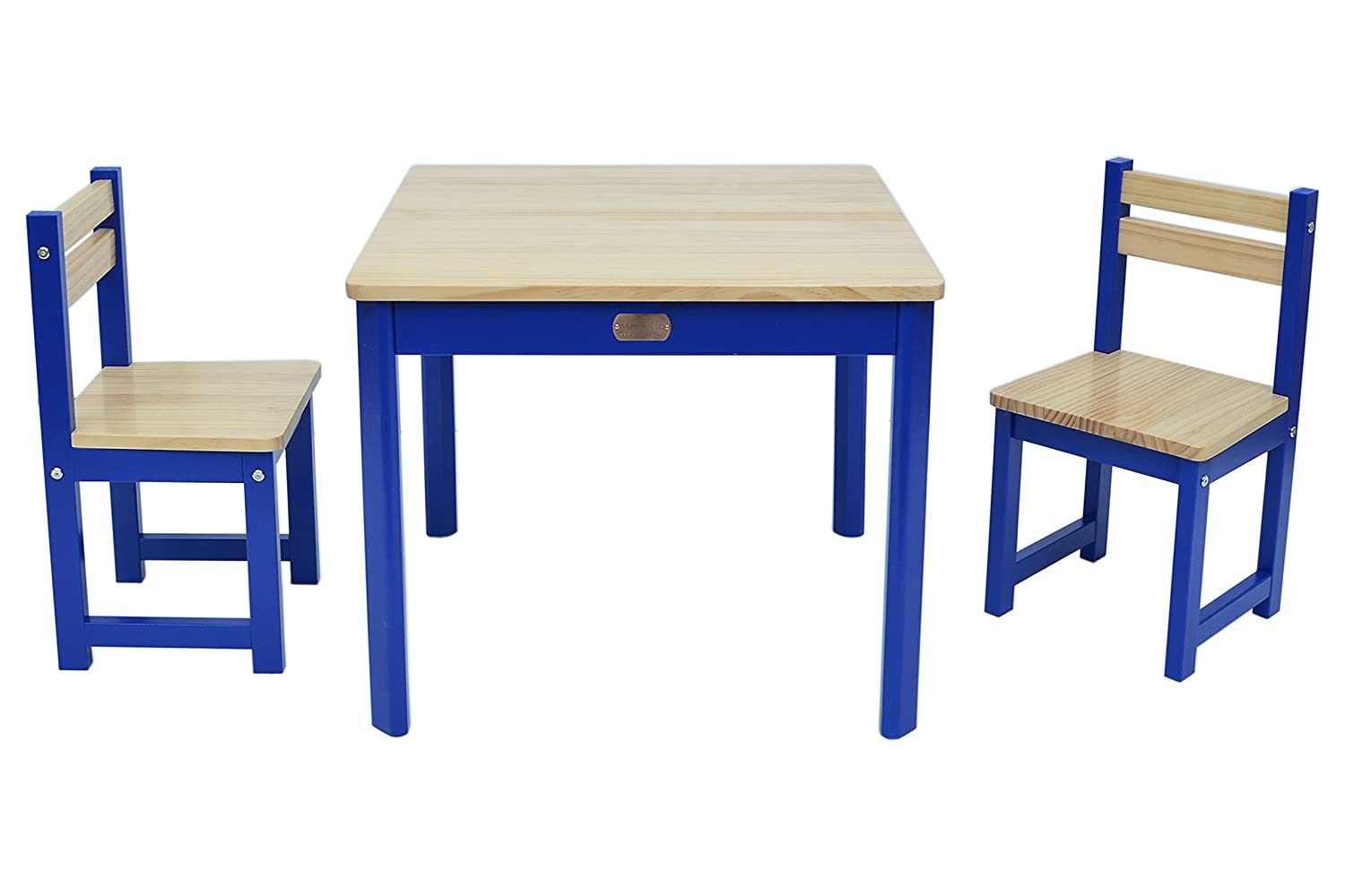 Boss Envy TBS03B Set de Table et Chaise Bois-MDF Bleu 60 x 60 x 49 cm
