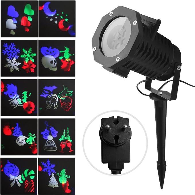 Proyector Luces Navidad Fochea IP65 Lámpara de Proyección Navideño ...