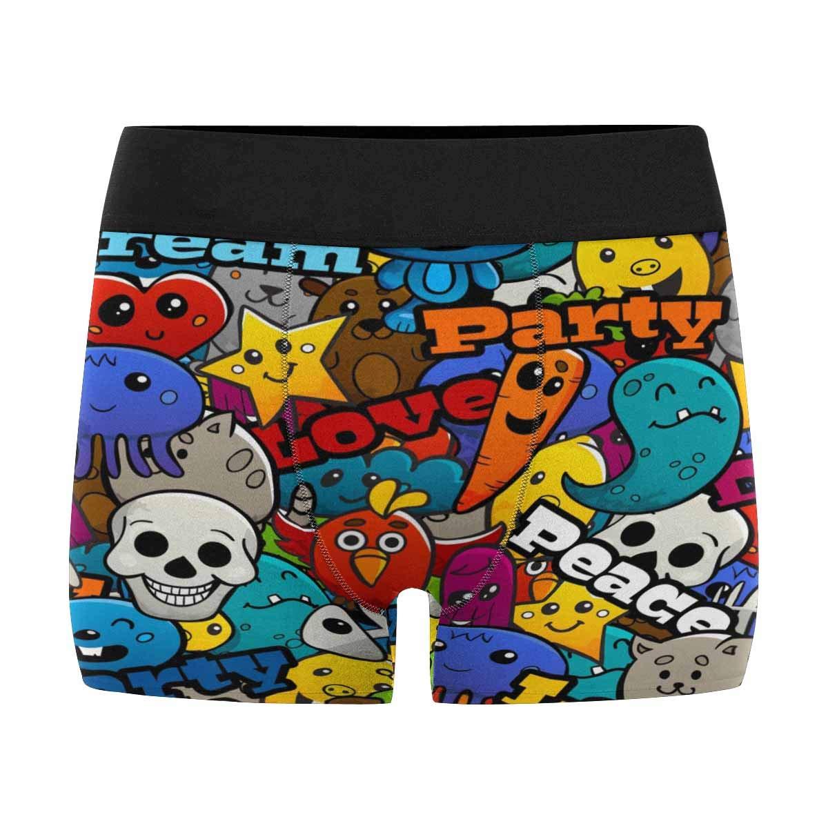 INTERESTPRINT Boxer Briefs Mens Underwear Cute XXL