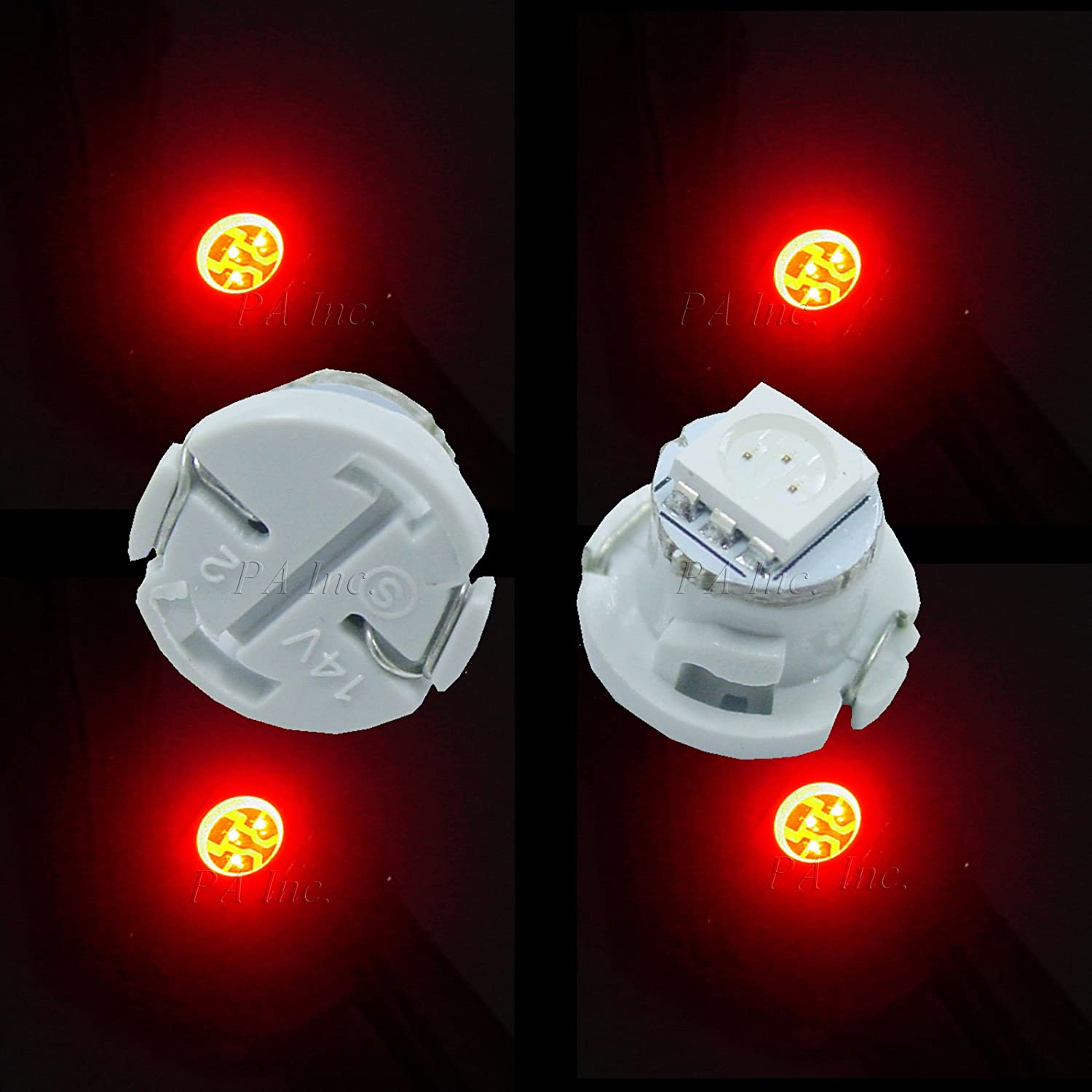 PA 20pcs T4.7 Car Dash Board Instrument LED Bulbs 5 color options 12v (WHITE) Per-Accurate Inc. All brands after market