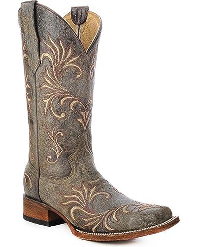 Corral Boots Distressed Filigree Block Heel Boots m8dvZYIIqn