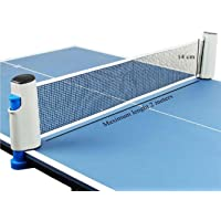 Klapp Adjustable Table Tennis Net with Push Clamps, Colour May Vary