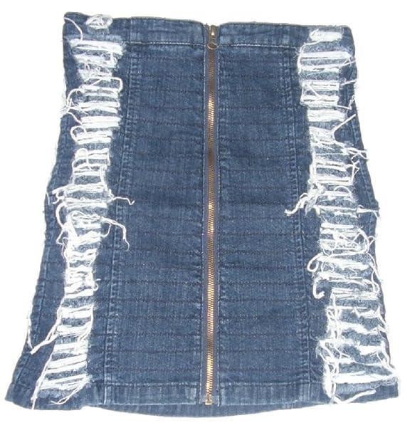 Nueva Falda Vaquera Diseño De Tela Niñas La Sola Envejecido Moda Sn0wqRZ56