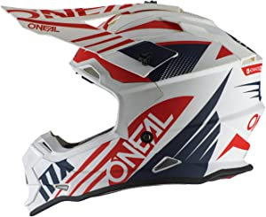 O'Neal 2Series Adult Helmet, Spyde (White/Blue/Red, MD)