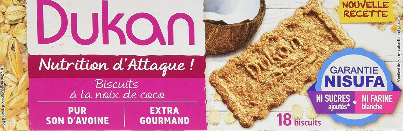 Dukan Diet Galletas de salvado de avena - Coco (37g) Pack de 3: Amazon.es: Alimentación y bebidas