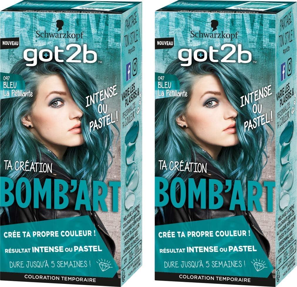 got2b la Pétillante Coloración Semi Permanente bomb Art 097 azul – Juego de 2