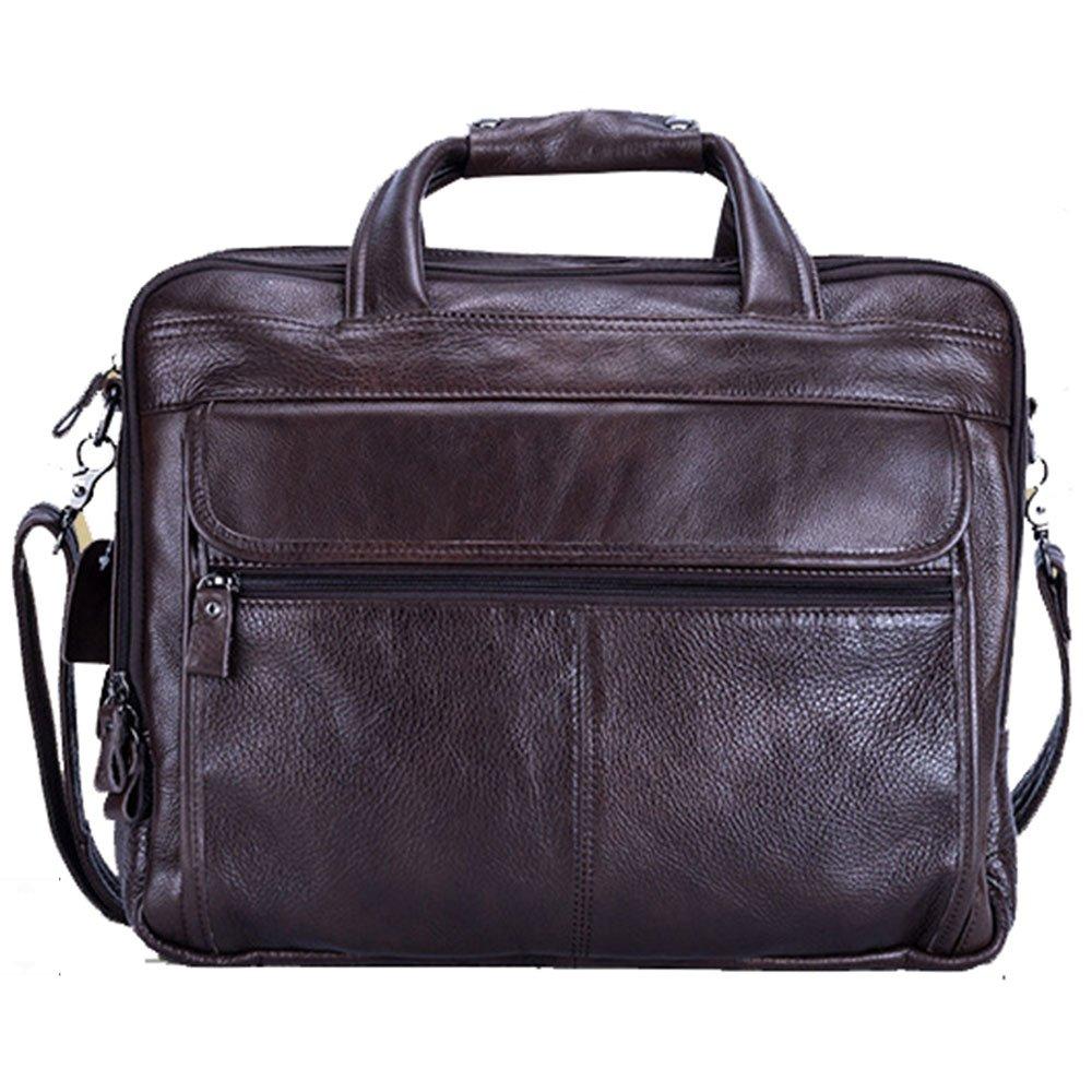 MLMHLMR ファッション メンズ バッグ ビジネス ブリーフケース カジュアル ハンドバッグ ショルダー メッセンジャー バッグ、マルチカラーオプション、40x32x12cm ブリーフケース ブラウン 1654 B07PPY5PQ4 ブラウン