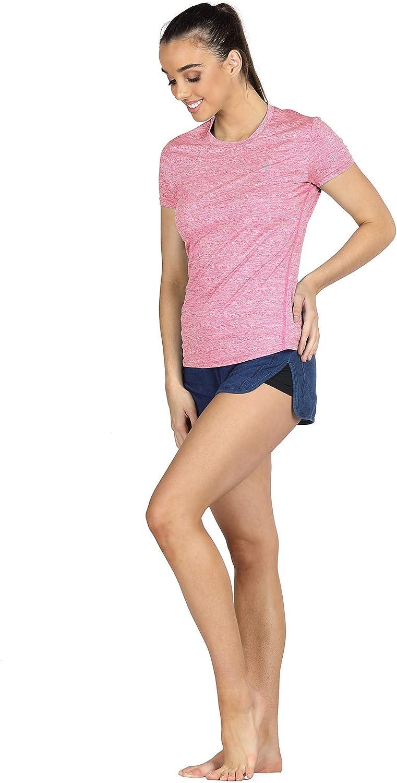 Confezione da 3 Corsa Fitness T-Shirt icyzone Donna Maglietta da Sportivo con Scollo Tondo