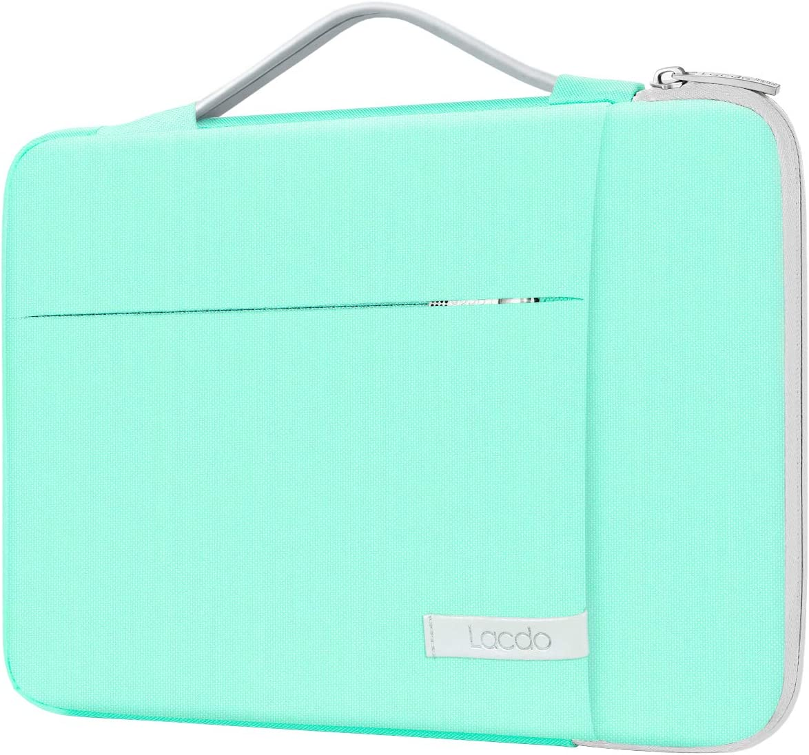 """Lacdo 360° Protective 14 Inch Laptop Sleeve Computer Case Portable Bag for Dell Inspiron 14 5481 / HP Stream 14"""" / Acer Spin 3 / ASUS L402YA / HP Acer Chromebook 14, S330 / Flex 14 Notebook, Green"""