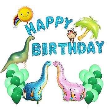 Amazon.com: ICheap - Globos de dinosaurio para cumpleaños ...