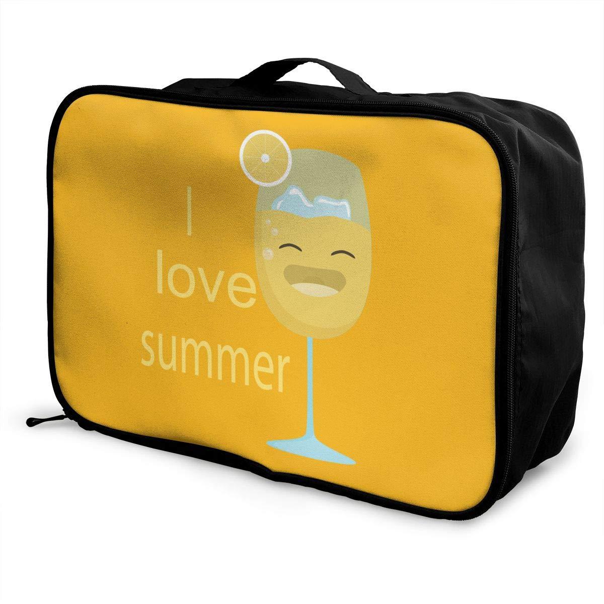 Travel Luggage Duffle Bag Lightweight Portable Handbag Love Summer Large Capacity Waterproof Foldable Storage Tote