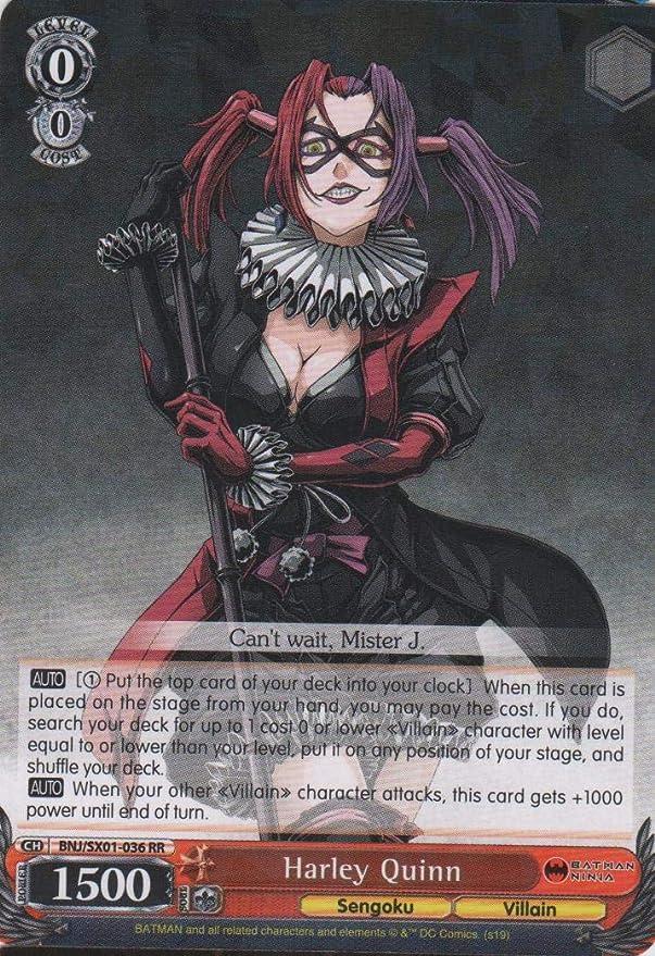 Amazon.com: Weiss Schwarz - Harley Quinn - BNJ/SX01-036 RR ...