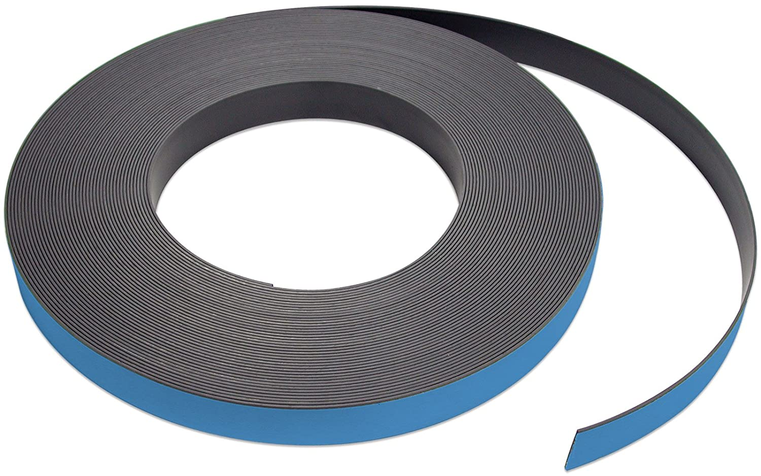 Flexible Magnet Strip with Blue Vinyl Coating, 1/32' Thick, 1' Height, 50 Feet, 1 Roll 1/32 Thick 1 Height Master Magnetics Inc. ZGN03040B/WKS50