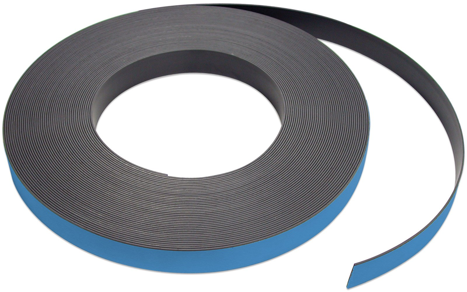 Flexible Magnet Strip with Blue Vinyl Coating, 1/32'' Thick, 2'' Height, 50 Feet, 1 Roll