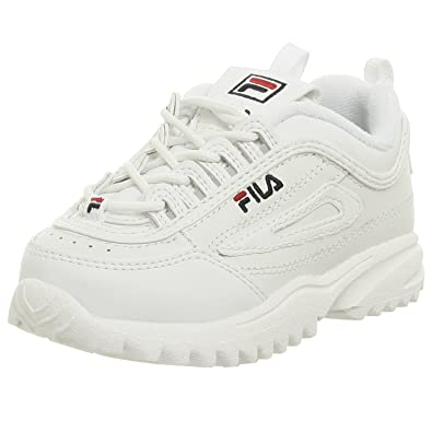 Fila Disruptor II Sneaker(Toddler), White/Navy/Red, 5 M US ...