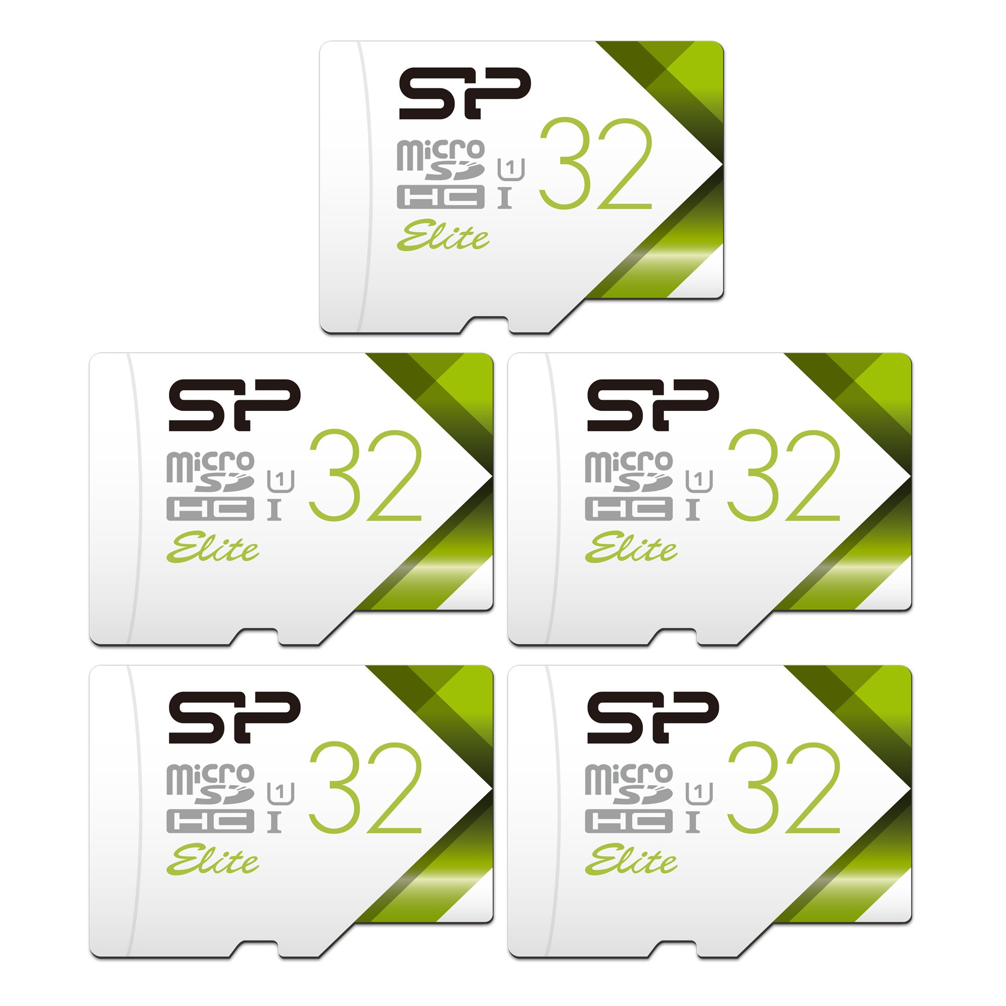 Silicon Power 32GB 5-Pack High Speed MicroSD Card with Adapter by SP Silicon Power (Image #1)