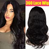 S-noilite 100% Unprocessed Brazilian Virgin Human Hair Wig Glueless Lace Front Wigs Body Wave Straight Pre Plucked Natural with Baby Hair Wig for Black Women