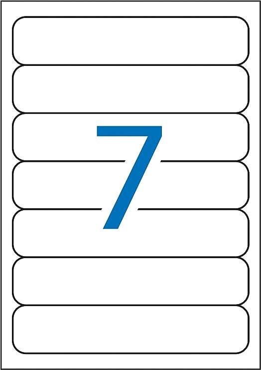 APLI 1232 - Etiquetas blancas para archivo 190,0 x 38,0 mm 25 hojas: Amazon.es: Oficina y papelería