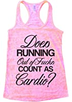 """Women's Running Ab Burnout Tank """"Does running out of fcks count as cardio"""" Funny Threadz"""