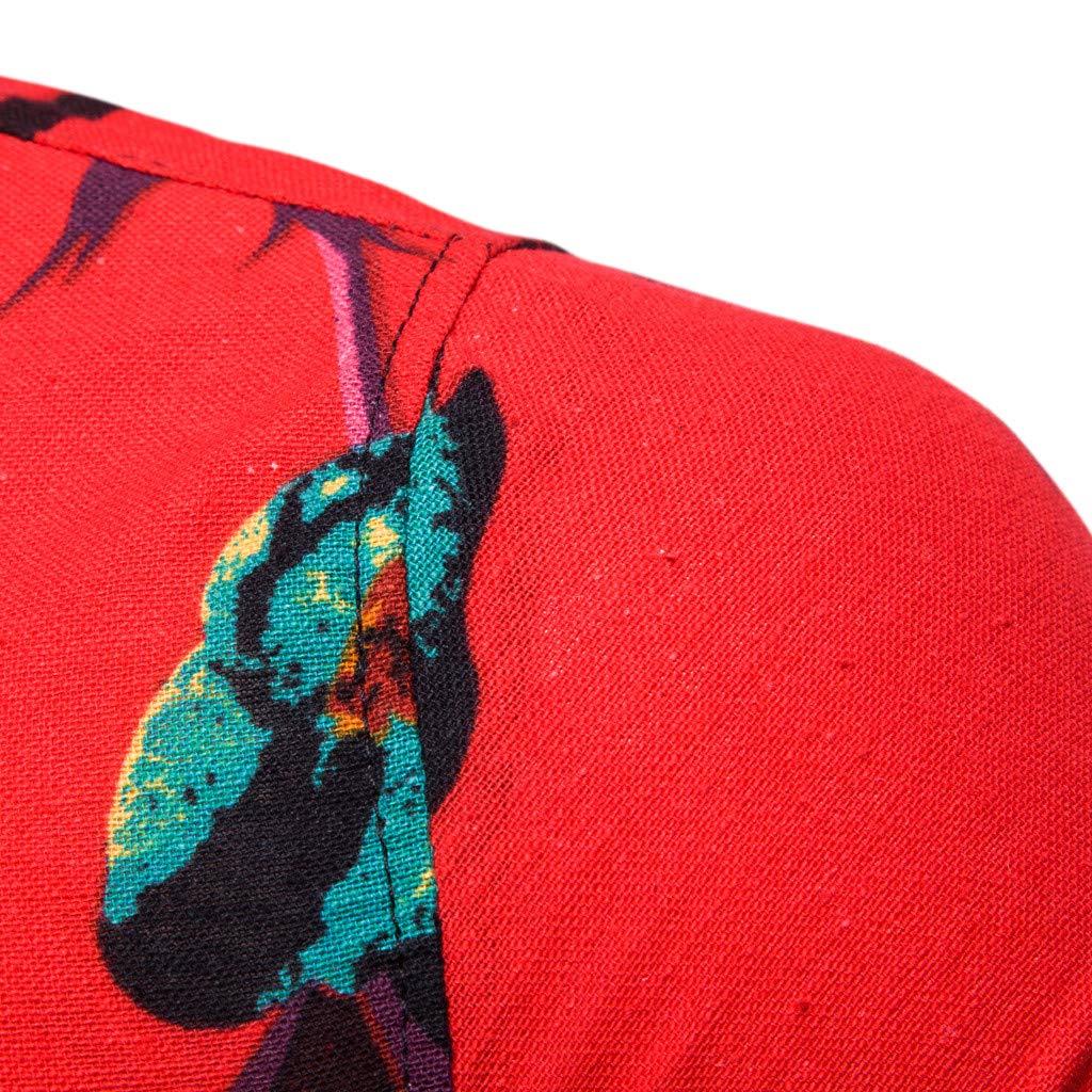 ODRD Herren T-Shirts Fr/ühling Sommer Das Neue Muster M/änner beil/äufige Art Weise Revers-Druck-Kurzarm-Shirt druckt Top Tanktop Bluse Hemden Poloshirts Tops Langarmshirts Tee t Shirts