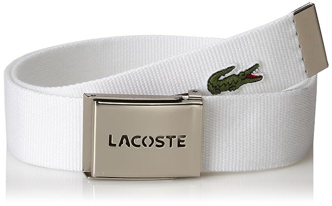 e53b016cc83702 Lacoste Men s L.12.12 Textile Signature Croc Logo Belt