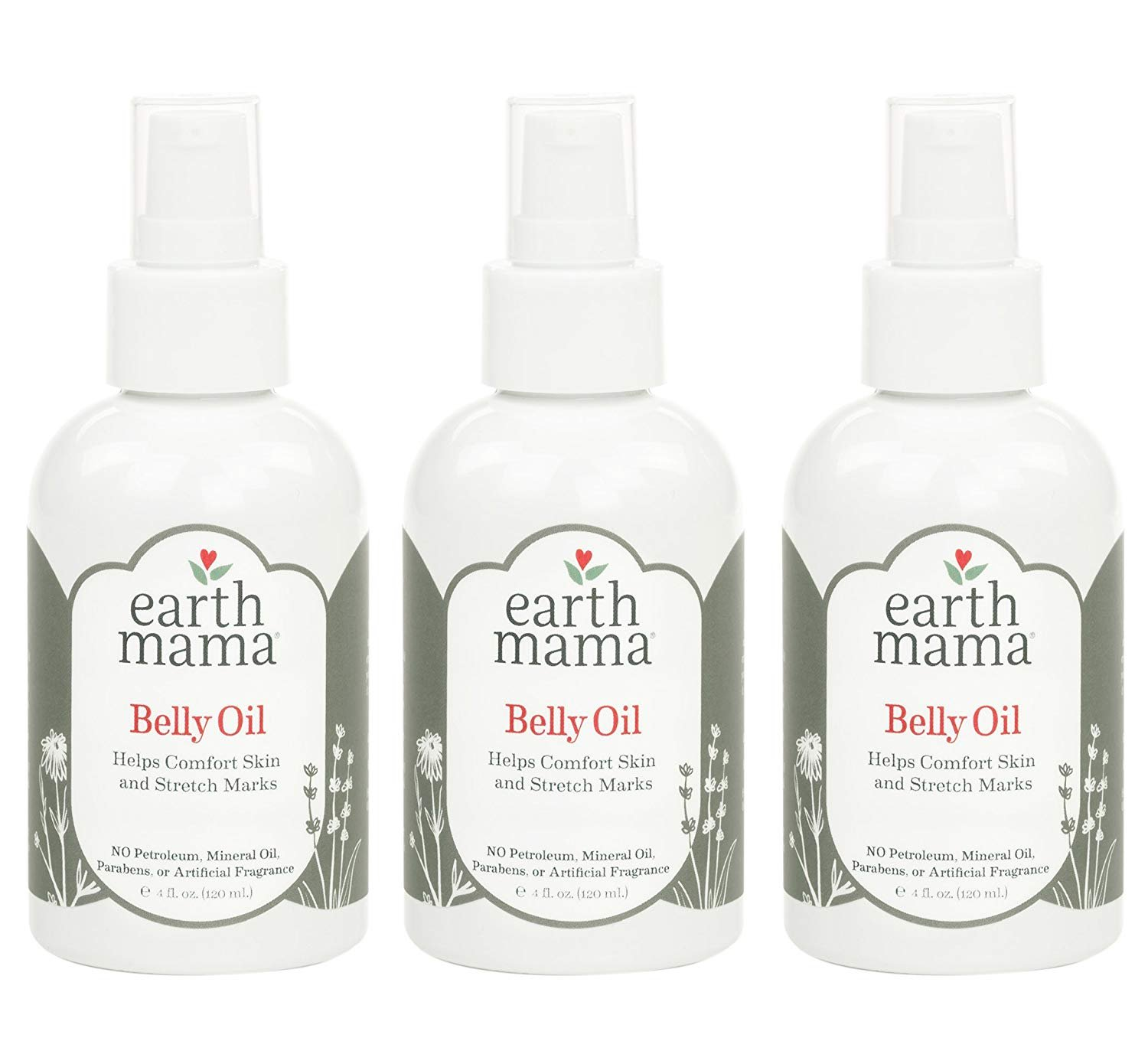 Earth Mama Angel Baby Natural Stretch Oil, 3 Pack - 4 Oz. (120 ml)