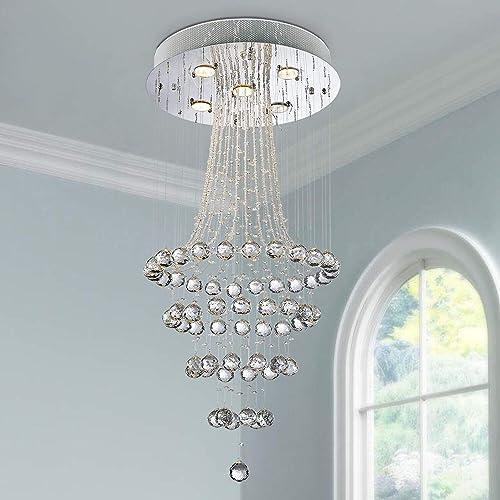 Saint Mossi 5-Lights Modern Chandelier Lighting,Crystal Chandelier