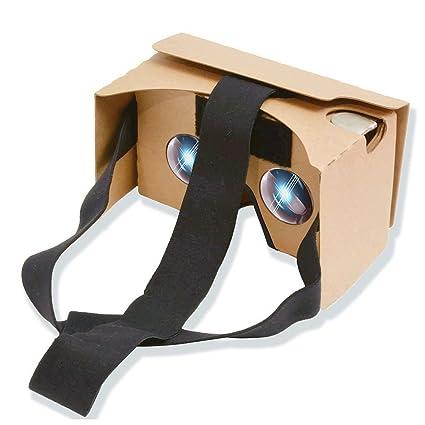 Amazon.com: POTOK 2016 Newest Google Cardboard Kit V2 Big Lens 3D ...